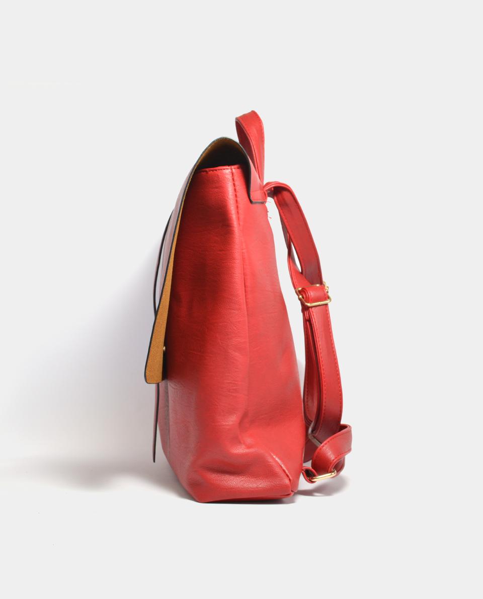 Κόκκινη τσάντα πλάτης - KENNEDY SHOES b1cbac28532