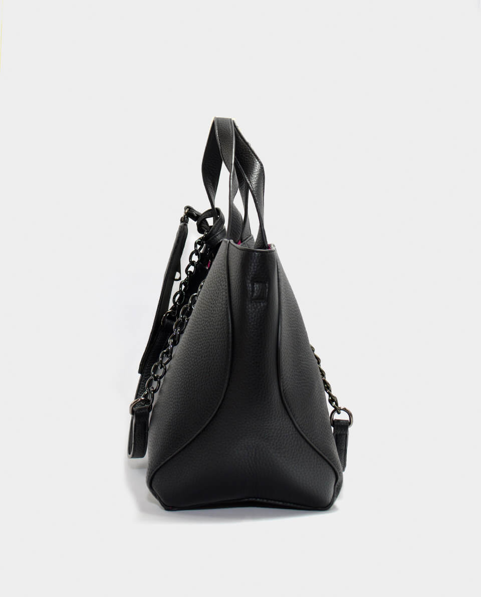 039f07d48e Mεγάλη μαύρη τσάντα με νεσεσέρ - KENNEDY SHOES